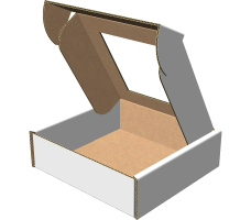"Самосборная коробка 100х100х30 мм, Т-22 ""Е""  белый (с окном 70х70 мм)"