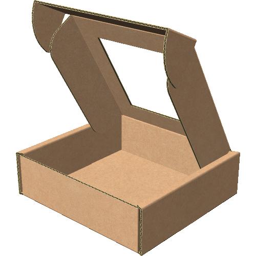 "Самосборная коробка 100х100х30 мм, Т-22 ""Е""  бурый (с окном 70х70 мм)"