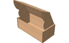 """Самосборная коробка 150x100x50 мм, Т-22 """"Е"""" бурый"""