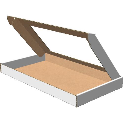 "Самосборная коробка 292х162х25 мм, Т-22 ""Е"" белый (с окном 215х120 мм)"