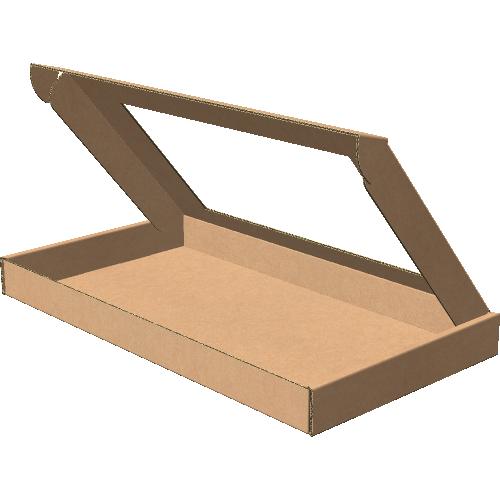 "Самосборная коробка 292х162х25 мм, Т-22 ""Е"" бурый (с окном 215х120 мм)"