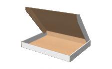 "Самосборная коробка 100x80x20 мм, Т-22 ""Е"" белый"