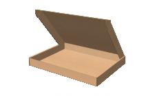 """Самосборная коробка 100x80x20 мм, Т-22 """"Е"""" бурый"""