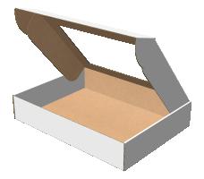 "Самосборная коробка 430х320х80 мм, Т-22 ""Е""  белый (с окном 330х220 мм)"