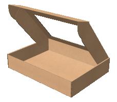 "Самосборная коробка 430х320х80 мм, Т-22 ""Е""  бурый(с окном 330х220 мм)"