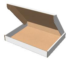 """Самосборная коробка 510х410х65 мм, Т-22 """"В"""" белый"""