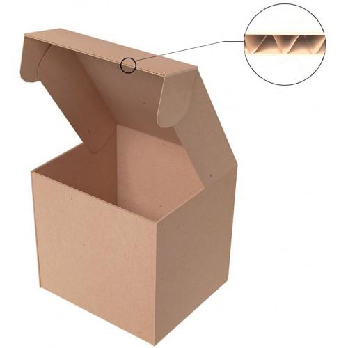 """Самосборная коробка 100x100x100 мм, Т-22 """"Е"""" бурый"""