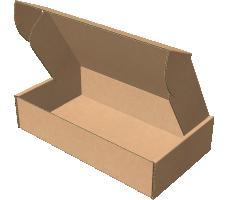 "Самосборная коробка 280х190х50 мм, Т-22 ""Е"" бурый"