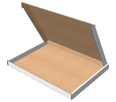 "Самосборная коробка 195х140х35 мм, Т-22 ""Е"" белый"