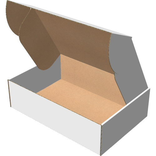 "Самосборная коробка 350х235х100 мм, Т-22 ""Е"" белый"