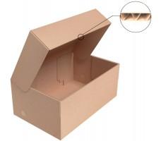 "Коробка для обуви 300x180x120 мм, Т-23 ""Е"" бурый"