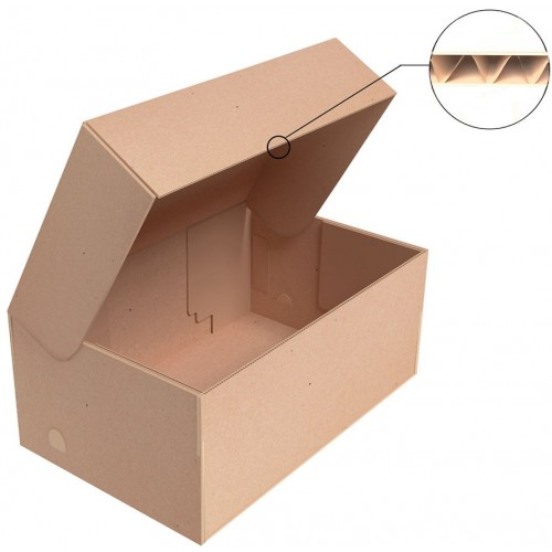 "Коробка для обуви 355x350x125 мм, Т-23 ""Е"" бурый"