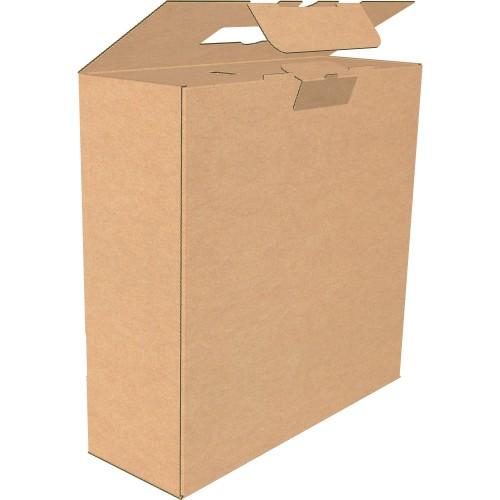 """Коробка с пластмассовой ручкой 880х145х293 мм, Т-24 """"В"""" бурая"""