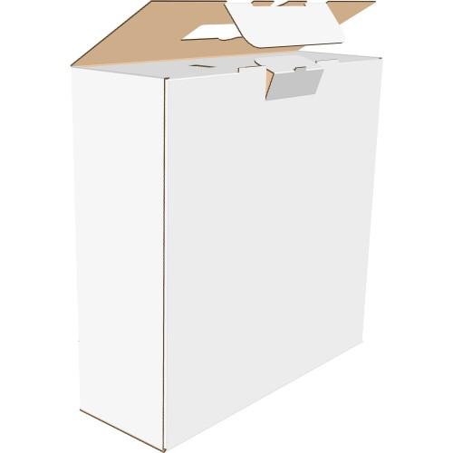 """Коробка с пластмассовой ручкой 880х145х293 мм, Т-24 """"В"""" белая"""