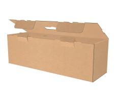 "Коробка с пластмассовой ручкой 520х160х160 мм, Т-24 ""Е"" бурая"