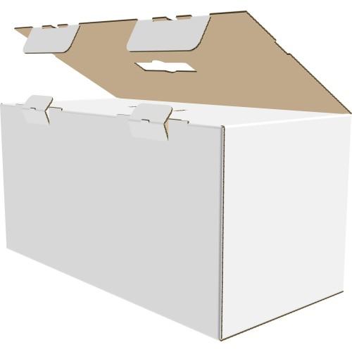 """Коробка с пластмассовой ручкой 520х250х250 мм, П-33 """"ЕВ"""" белая"""
