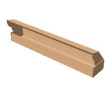 "Самосборная коробка 1050х170х100 мм, Т-22 ""Е"" бурый"