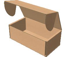 "Самосборная коробка 150х80х55 мм, Т-22 ""Е"" бурый"