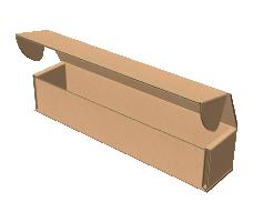"Самосборная коробка 200х40х40 мм, Т-22 ""Е"" бурый"