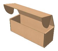 "Самосборная коробка 200х70х70 мм, Т-22 ""Е"" бурый"