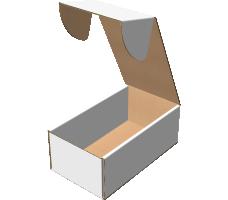 """Самосборная коробка 216х401х153 мм, Т-22 """"В"""" белый"""