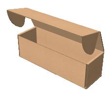 "Самосборная коробка 226х70х70 мм, Т-22 ""Е"" бурый"