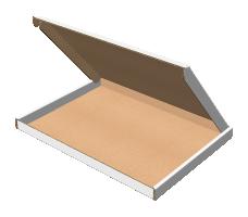"Самосборная коробка 255х188х15 мм, Т-22 ""Е"" белый"