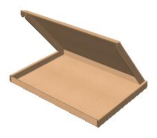 "Самосборная коробка 255х188х15 мм, Т-22 ""Е"" бурый"