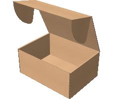 "Самосборная коробка 340х250х150 мм, Т-22 ""Е"" бурый"